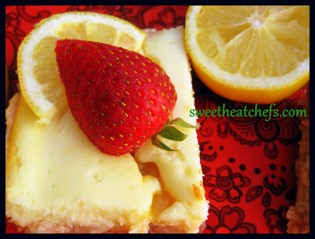 Strawberry Lemon Cheesecake Bars Sweet Heat Chefs
