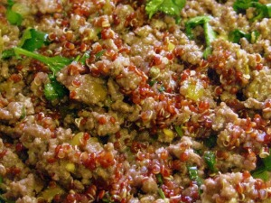Mexican Red Quinoa Stuffed Sweet Peppers - sweetheatchefs.com
