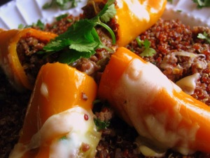 Mexican Red Quinoa Stuffed Sweet Peppers6 - sweetheatchefs.com
