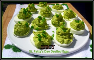 Spicy St. Patty's Day Deviled Eggs - sweetheatchefs.com