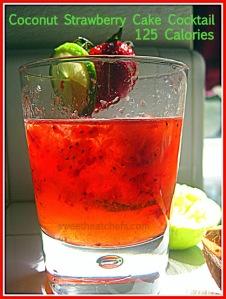 Coconut Strawberry Cake Cocktail - sweetheatchefs.com
