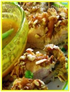 Baked Pretzel Crusted Chicken - sweetheatchefs.com