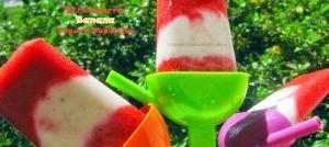 Strawberry Banana Yogurt Popsicles - sweetheatchefs.com