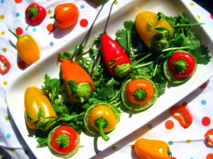 Organic Raw Stuffed Sweet Peppers - sweetheatchefs.com